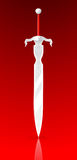 Vector illustration of simple sword Royalty Free Stock Photography