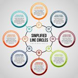 Simplified Line Circles Infographic Royalty Free Stock Image