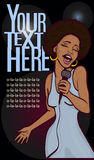 Vector illustration of a singing  woman . Stock Image