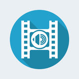 Audio player icon. Vector illustration of single isolated audio player icon Royalty Free Stock Image