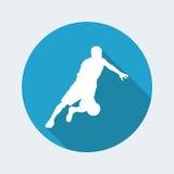 Basketball icon royalty free illustration