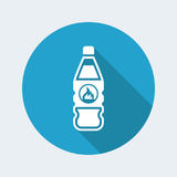 Vector illustration of single isolated danger bottle icon. Flat and isolated vector eps illustration icon, with minimal design and long shadow Stock Images