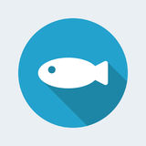 Fish icon. Vector illustration of single isolated fish icon Royalty Free Stock Image