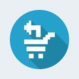 Pixel pc icon. Vector illustration of single isolated pixel pc icon royalty free illustration