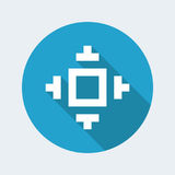 Pixel pc icon. Vector illustration of single isolated pixel pc icon stock illustration