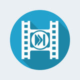 Video player icon. Vector illustration of single isolated video player icon Stock Photography