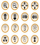 Vector illustration of site buttons. Page sign set two Royalty Free Stock Photo