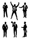 Six businessmen set. Vector illustration of a six businessmen set Stock Photos