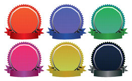 Vector Illustration of Six Colorful Badges Royalty Free Stock Photo