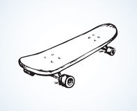 Vector illustration. Skate. Simple old skate isolated on white backdrop. Freehand outline ink hand drawn picture sign sketchy in grunge art retro scribble style royalty free illustration