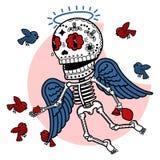 Vector illustration of skeletons Stock Image