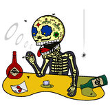 Vector illustration of skeletons Stock Images