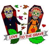 Vector illustration of skeletons Royalty Free Stock Photo