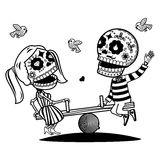 Vector illustration of skeletons Stock Images
