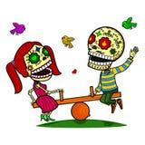 Vector illustration of skeletons Stock Photo
