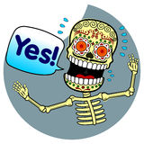 Vector illustration of skeletons Royalty Free Stock Photography