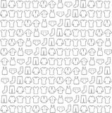 Vector Illustration,sketch background, fabric. Royalty Free Stock Images