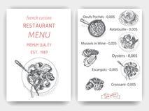 Vector illustration sketch - breakfast. Card Menu brunch. vintage design template, banner. Royalty Free Stock Image