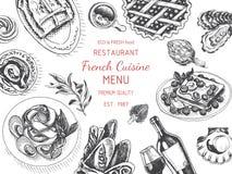 Vector illustration sketch - breakfast. Card Menu brunch. vintage design template, banner. Royalty Free Stock Images