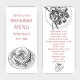 Vector illustration sketch - breakfast. Card Menu brunch. vintage design template, banner. Royalty Free Stock Photos
