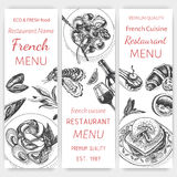 Vector illustration sketch - breakfast. Card Menu brunch. vintage design template, banner. Royalty Free Stock Photography