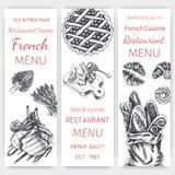 Vector illustration sketch - breakfast. Card Menu brunch. vintage design template, banner. Stock Images