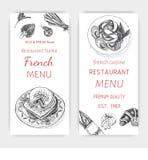 Vector illustration sketch - breakfast. Card Menu brunch. vintage design template, banner. Stock Photos
