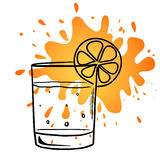 Vector illustration sketch of a glass of juice Stock Photography