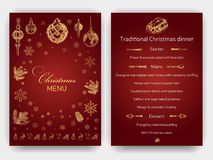 Vector illustration sketch - Greeting cards and holiday design. Vintage Xmas Menu. Christmas hand drawn Decorations - fur tree for