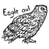 Vector illustration sketch hand drawn with black lines of eagle Royalty Free Stock Photos