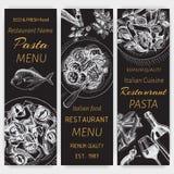 Vector illustration sketch - pasta. Card menu italian restaurant. Banner italan food. Stock Image