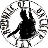 Stamp San Marino Stock Photo