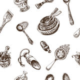Vector illustration sketch - tableware. dinnerware Royalty Free Stock Image