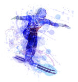 Vector illustration of a ski jumper Stock Photos