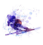 Vector illustration of the skier Royalty Free Stock Images