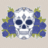 Vector illustration of a skull Stock Image