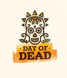 Vector illustration of Skull the Day of the Death Royalty Free Stock Images
