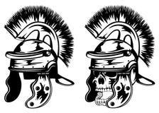 Skull in legionary helmet Royalty Free Stock Image