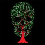 Vector illustration of Skull tree stock illustration