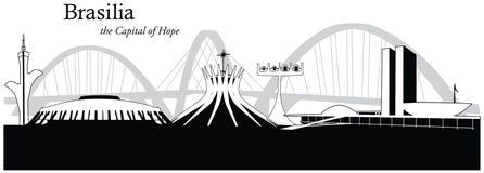 Vector illustration of the skyline of Brasilia, Brazil Stock Photo