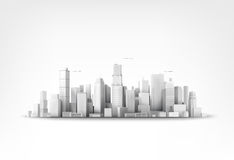 Vector illustration of skyscrappers. Vector illustration of mega citys skyscrappers Royalty Free Stock Image