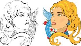 Vector illustration of Slavic Princess Royalty Free Stock Image