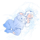 Vector illustration of sleeping baby Royalty Free Stock Photo