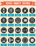 Vector illustration of smart devices and wearable electronics Royalty Free Stock Images
