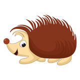 Vector Illustration of smiling Cartoon Hedgehog Royalty Free Stock Photos