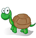 Vector illustration of a smiling cartoon turtle Royalty Free Stock Images