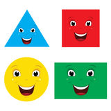 Vector Illustration Of Smiling Shapes Stock Photography