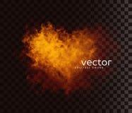 Vector illustration of smoky heart. Stock Photography