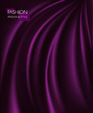 Vector illustration of smooth elegant luxury purple silk or satin texture. Can be used as background Royalty Free Stock Photo