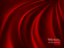 Vector illustration of smooth elegant luxury red silk or satin texture. Can be used as background Stock Photos